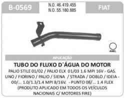 TUBO  AGUA PALIO/STRADA/DOBLO/MOTORES  FIRE